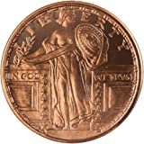 Standing Liberty 1 oz .999 Copper Round