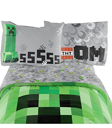 minecraft bedding set excellent designed multicolored kids comfortable twin sheet set 66 - Minecraft Bedding Set