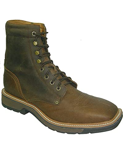 4d024eafa02 Twisted X Men s Lite 8 quot  Lace-Up Work Boot Steel Toe Distressed ...