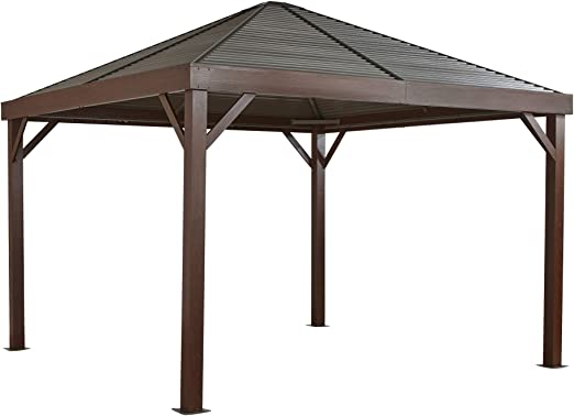 Sojag Carpa de aluminio South Beach Wood // 363 x 363 cm ...