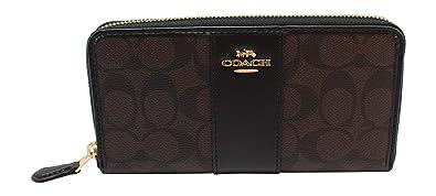 huge discount fa1d9 85751 Coach Women's Patent Crossgrain Leather Accordion Zip Wallet