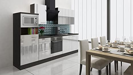 respekta Premium Incasso Cucina Cucina Riga 280 cm Rovere Grigio ...
