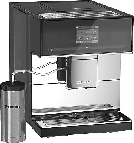 Miele CM 7500 Independiente Totalmente automática Máquina espresso 2.2L Negro, Acero inoxidable - Cafetera (Independiente, Máquina espresso, 2,2 L, Molinillo integrado, 1500 W, Negro, Acero inoxidable): Amazon.es: Hogar