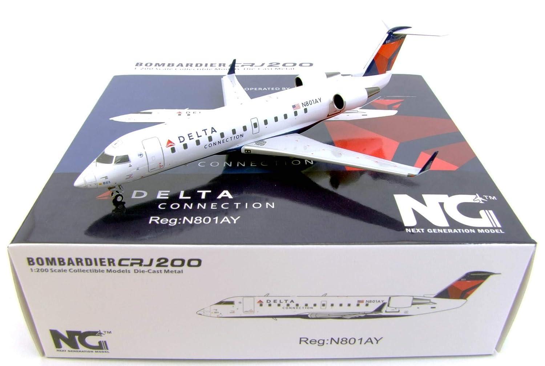 pre-Painted//pre-Built NG Model NGM52018 1:200 Delta Connection CRJ-200 Reg #N801AY