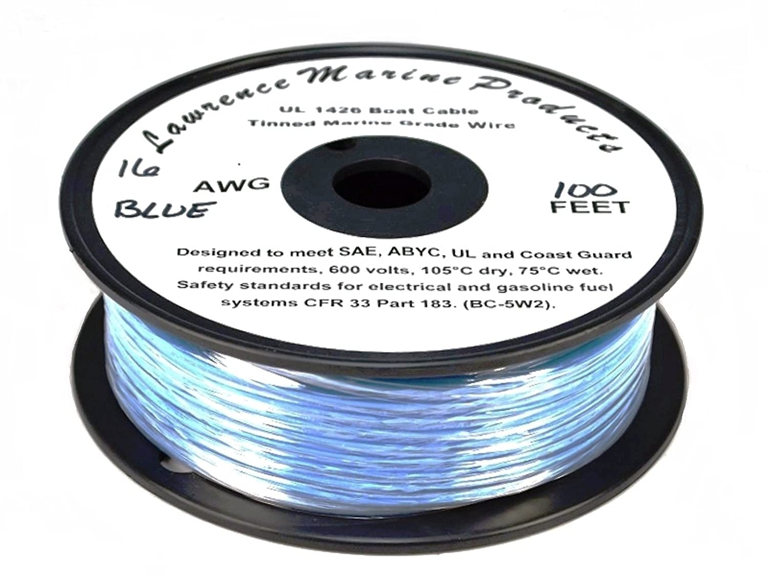 Lawrence Marine 16 AWG Tinned Marine Primary Wire Made in USA