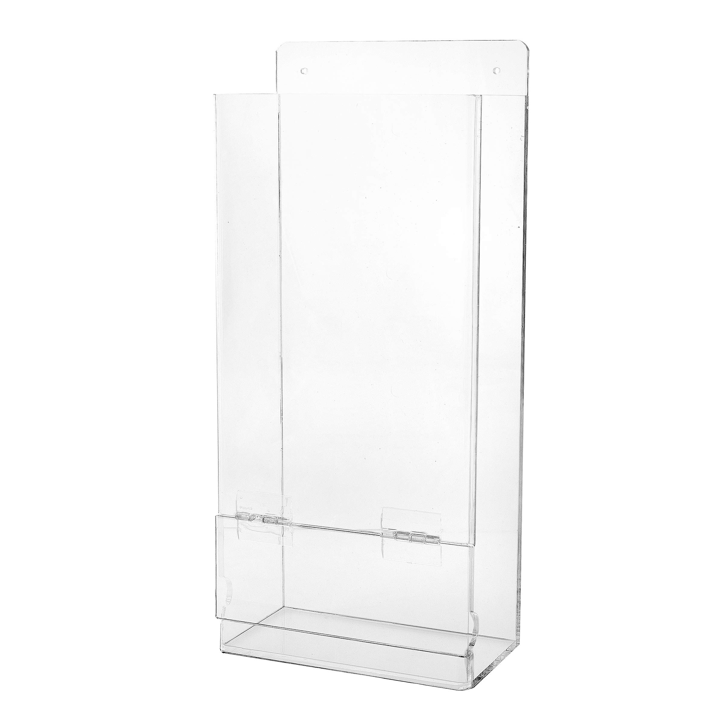 AdirOffice Safety Glasses and Glove Dispenser - Column Type Wall Mounted Acrylic Receptacle - Easy Access Organizer for Laboratory & Workplace Use by AdirOffice (Image #1)