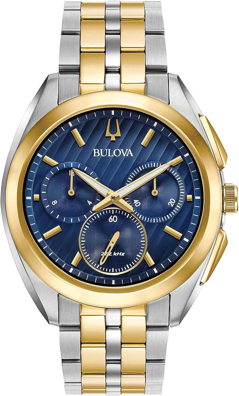 Bulova hombre Curv colección dos Tono Reloj