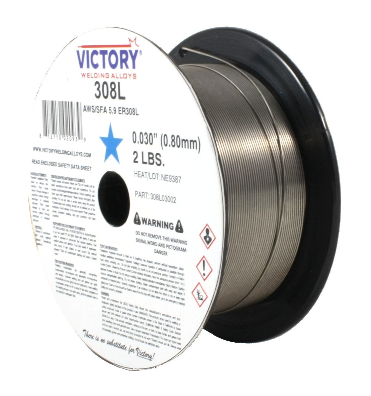 ER308L - MIG Stainless Steel Wire - 2 Lb x 0.030''