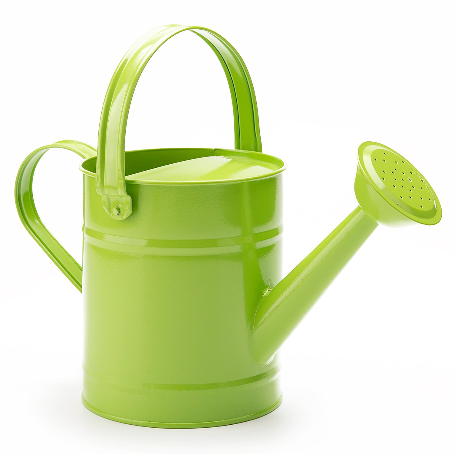 1.5 Letre Multi-color Metal Watering Can,Kids Children Garden Watering Bucket with Anti-rust Powder Coating Treatment and Beautiful Green Color