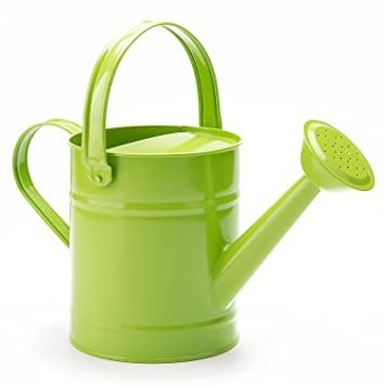 amazoncom 15 letre multi color metal watering can kids children garden watering bucket with anti rust powder coating treatment and beautiful green - Garden Watering Can