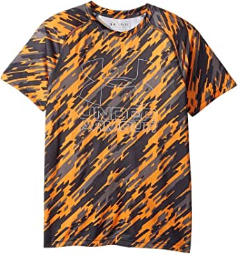 Under Armour Kids Boy's Big Logo Hybrid Printed Tee (Big Kids) Radiate/Overcast T-Shirt