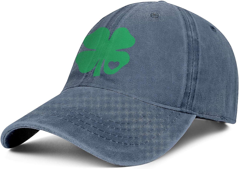 Patricks Day Unisex Baseball Cap Two-Tone Stretch Sport Hats Adjustable Trucker Caps Dad-Hat Clover Heart St