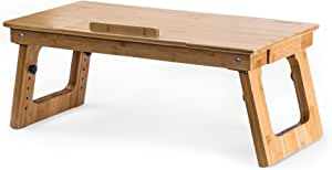 Prosumer's Choice Eco-Friendly Bamboo Sitting to Standing Desk Converter with Adjustable Height | for Laptops or Desktop