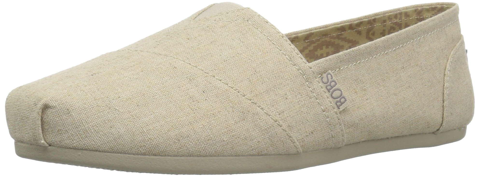 Skechers BOBS from Women's Plush-Best Wishes Ballet Flat, Natural, 7 W US