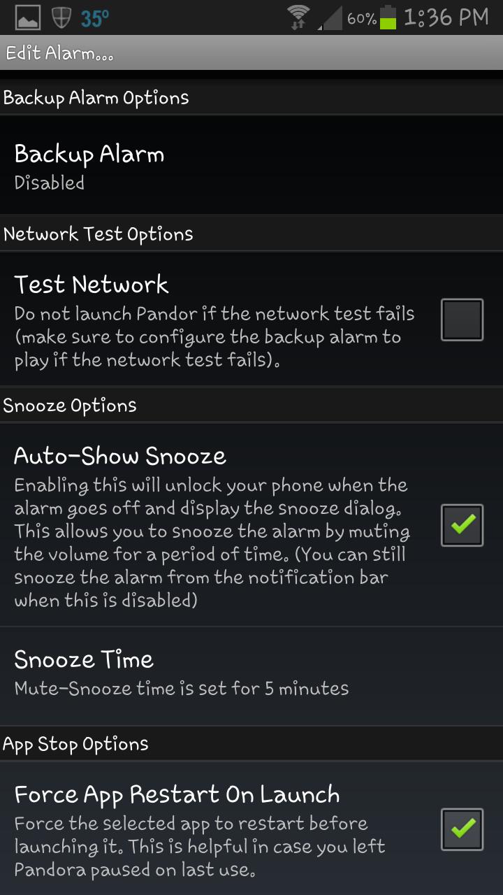Pandora Alarm Clock