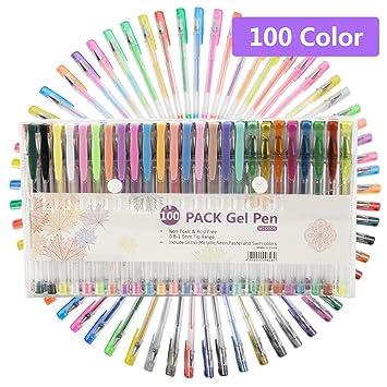 48 Farben Gel Tinte Stifte 1, 0 mm Tipps glitzer-Stifte Neon Pastell ...