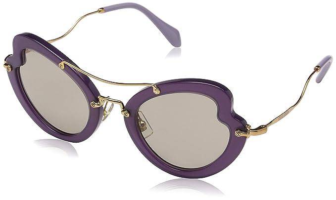 71401f44596e Miu Miu MU11RS USV5J2 Purple/Gold Scenique Cats Eyes Sunglasses Lens ...