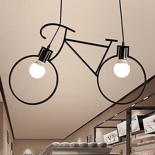 Hines Industria Retro Creativa Bicicleta Modelado Colgante de Luz ...