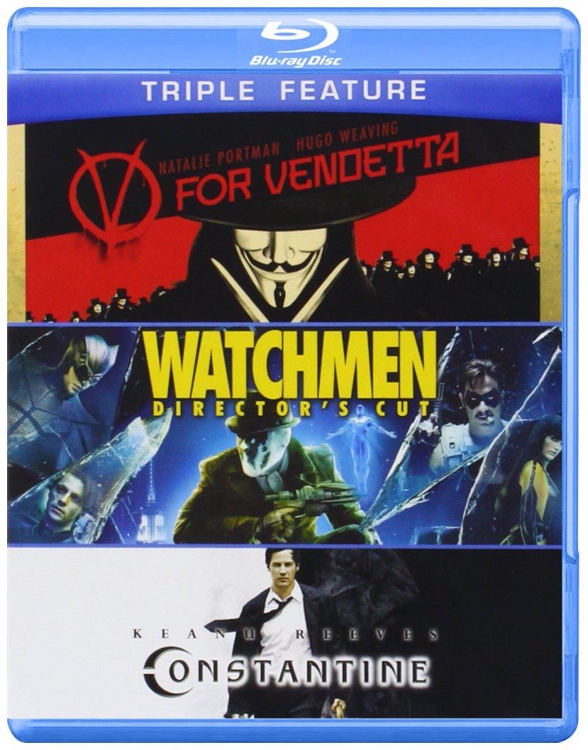 Blu-ray : V For Vendetta /  Watchmen /  Constantine (Blu-ray)