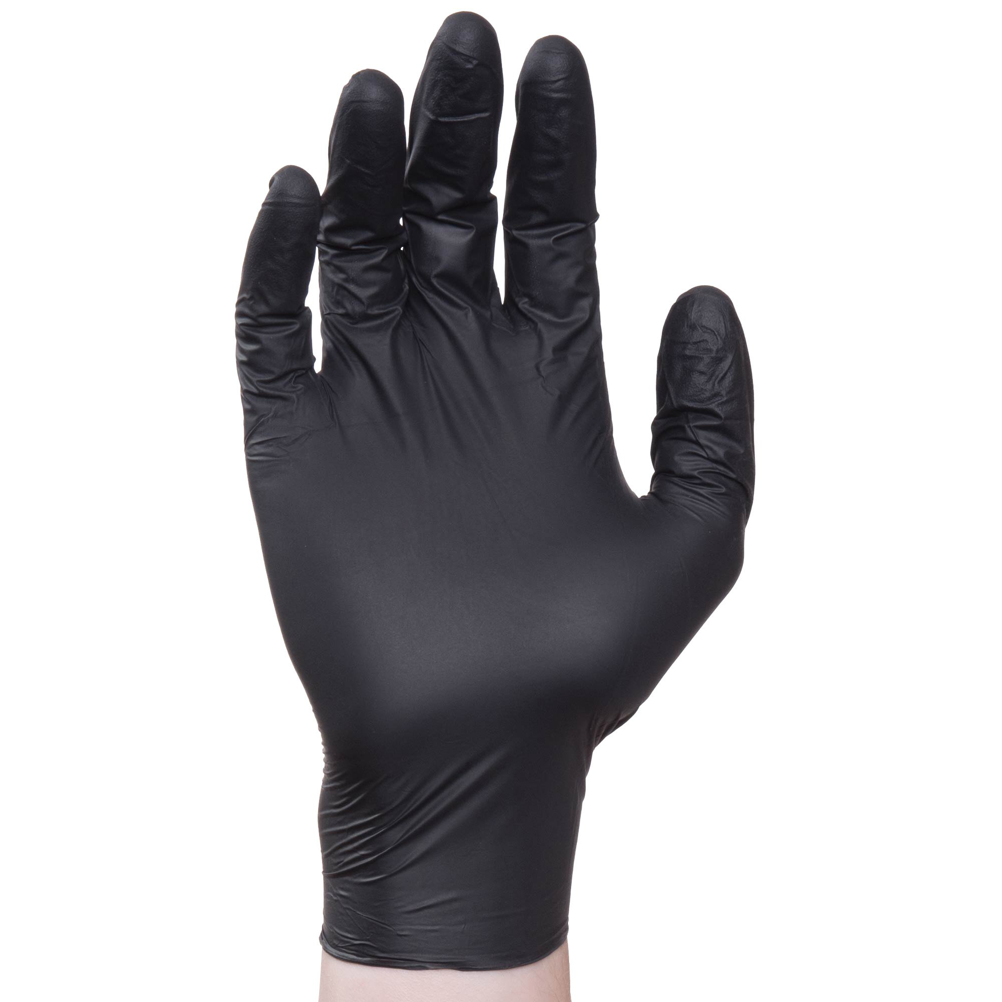 Elara FNE202BK EverfitBLACK Disposable Nitrile Glove, Extra Comfort, 3.3 mil, Black Color, Latex Free, PVC Free, BPA Free, Powder Free, Food Service, Industrial, Janitorial, Medium (Case of 1000)