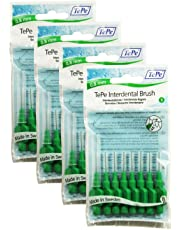TePe Interdental Brushes 0.8mm Green - 4 Packets of 8 (32 Brushes)