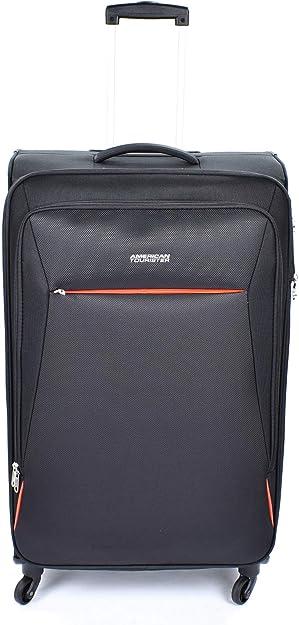 American Tourister 89727-0581 bolsa de equipaje Tranvía Negro Poliéster - Bolsa de viaje (Tranvía, Negro, Poliéster, 4 rueda(s), Cremallera, 1 pieza(s)): Amazon.es: Zapatos y complementos
