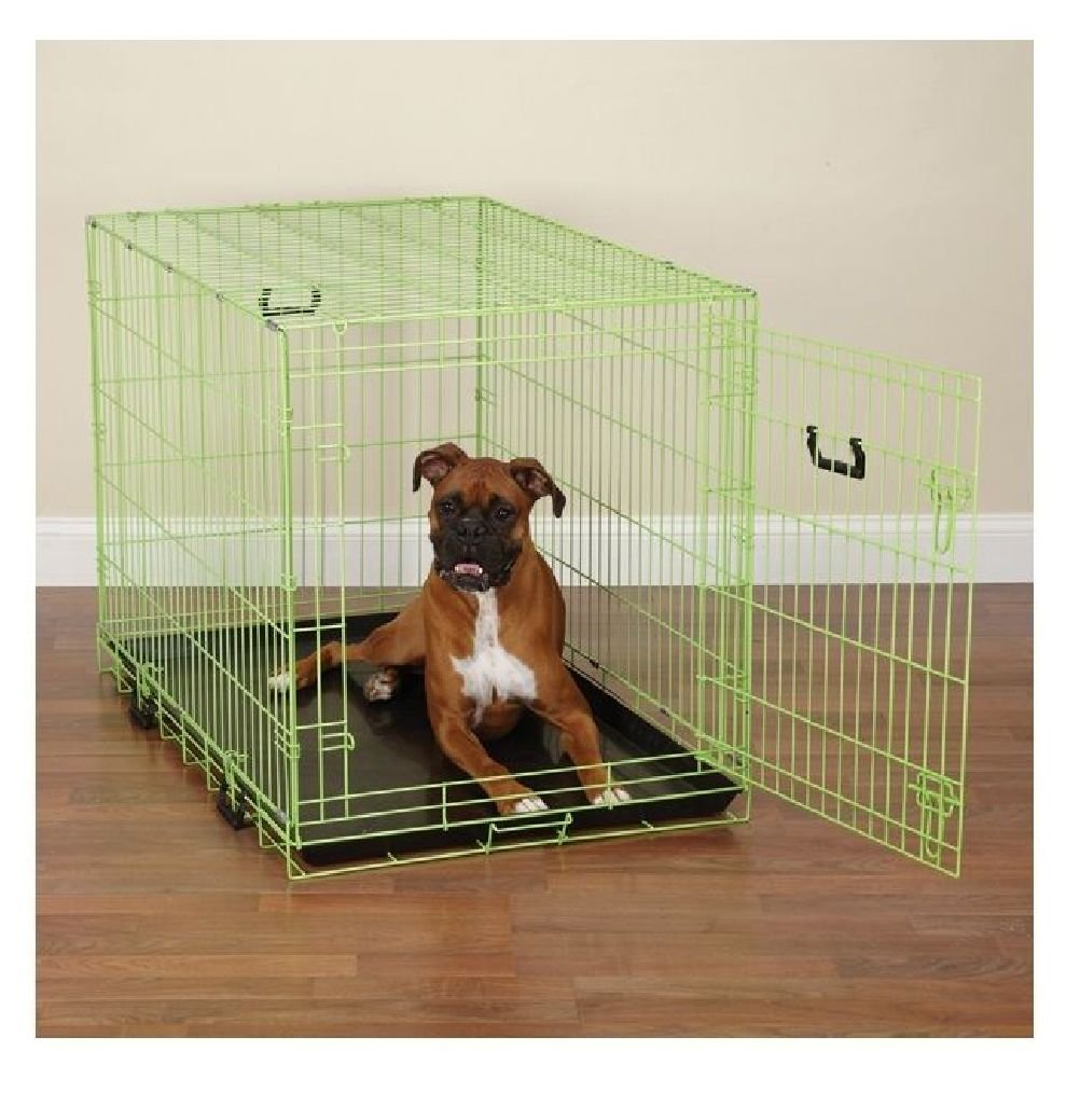 Fashion Lime Green Twist Dog Crate Appeal Training Crates For Dogs-Choose Size