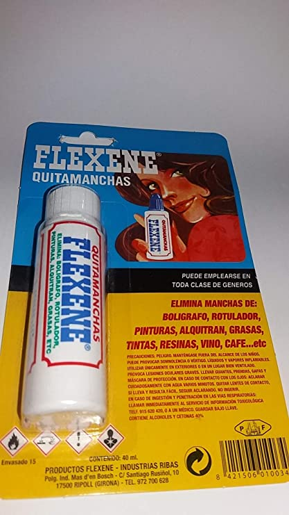 FLEXENE - Quitamanchas Multiuso Flexene 40 Ml