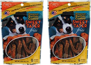 product image for Carolina Prime Pet Peanut Butter Coated Sweet Tater Fries, 5oz (Pack of 2)
