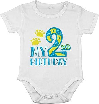 Mi Segundo cumpleaños bebé recién Nacido Body algodón niño pequeño Manga Corta: Amazon.es: Ropa y accesorios