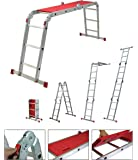 Youngman Capacity 150 Kg Aluminium Multipurpose Stepladder Ladder Extension, 92x26x35, Silver