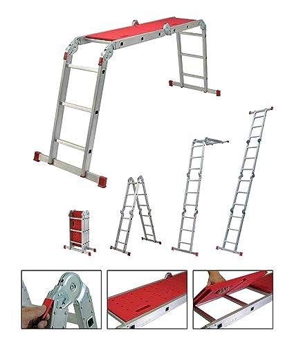 Youngman Capacity 150 Kg Aluminium Multipurpose Stepladder Ladder Extension, 92x26x35, Silver