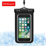 """Universal Waterproof Case, SEAPANHE CellPhone Dry Bag Phone Pouch for iPhone 8/7/7 Plus/6S/6/6S Plus/SE/5S, Samsung Galaxy S8/S8 Plus/Note 8 6 5 4, Google Pixel 2 HTC LG Sony MOTO up to 6.0"""""""