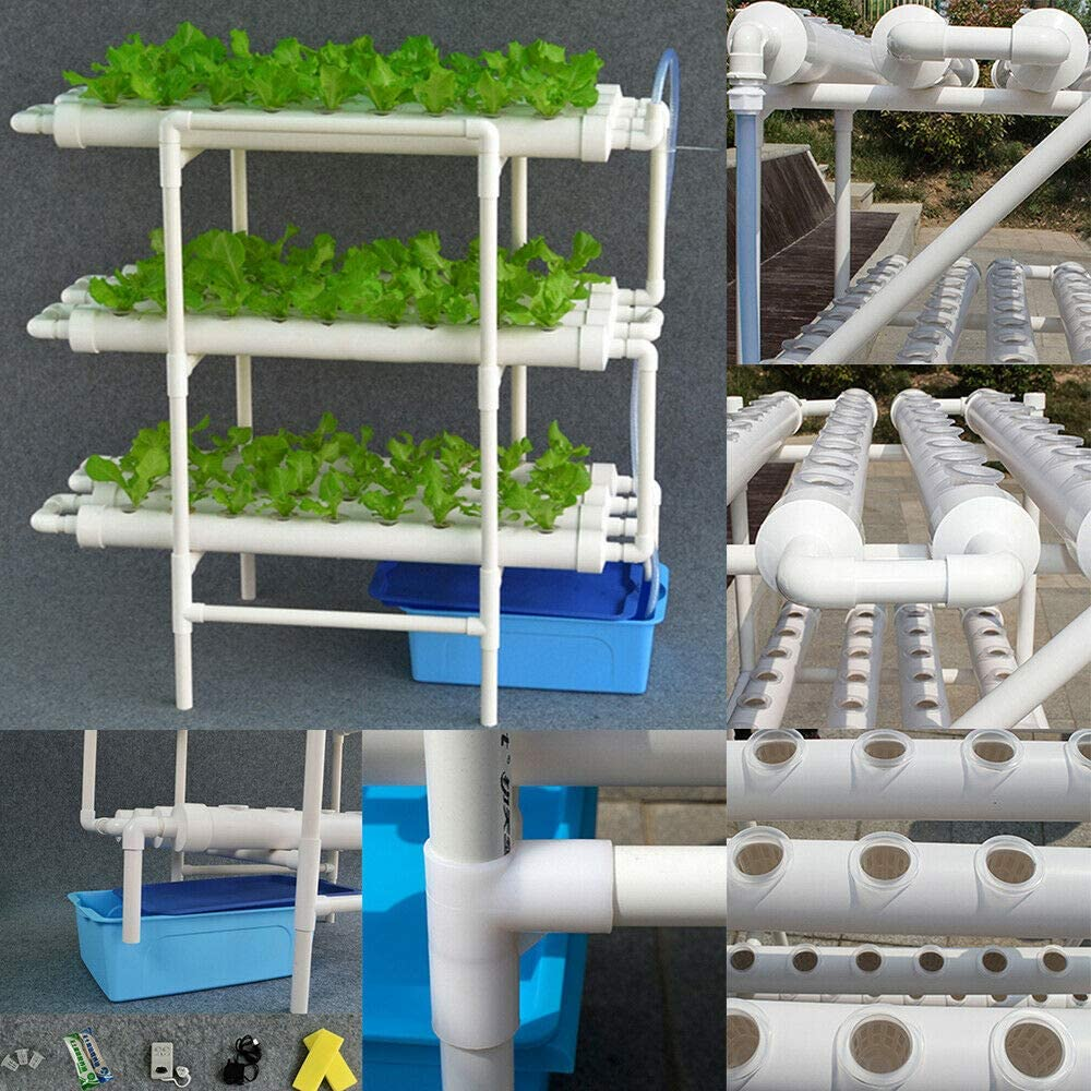 OUKANING Hydroponic Site Grow Kit 108 Holes Plant Sites 3 Layer Plant Vegetable Hydrokultur