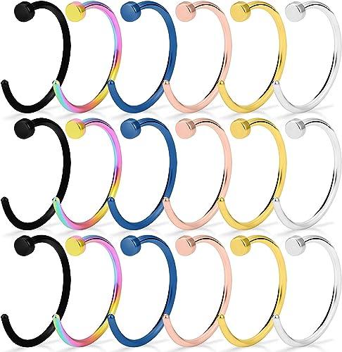 Steel Segment Ring Ear Nose Rings Ear Hoop Piercing Clips Tragus Clip Hooks