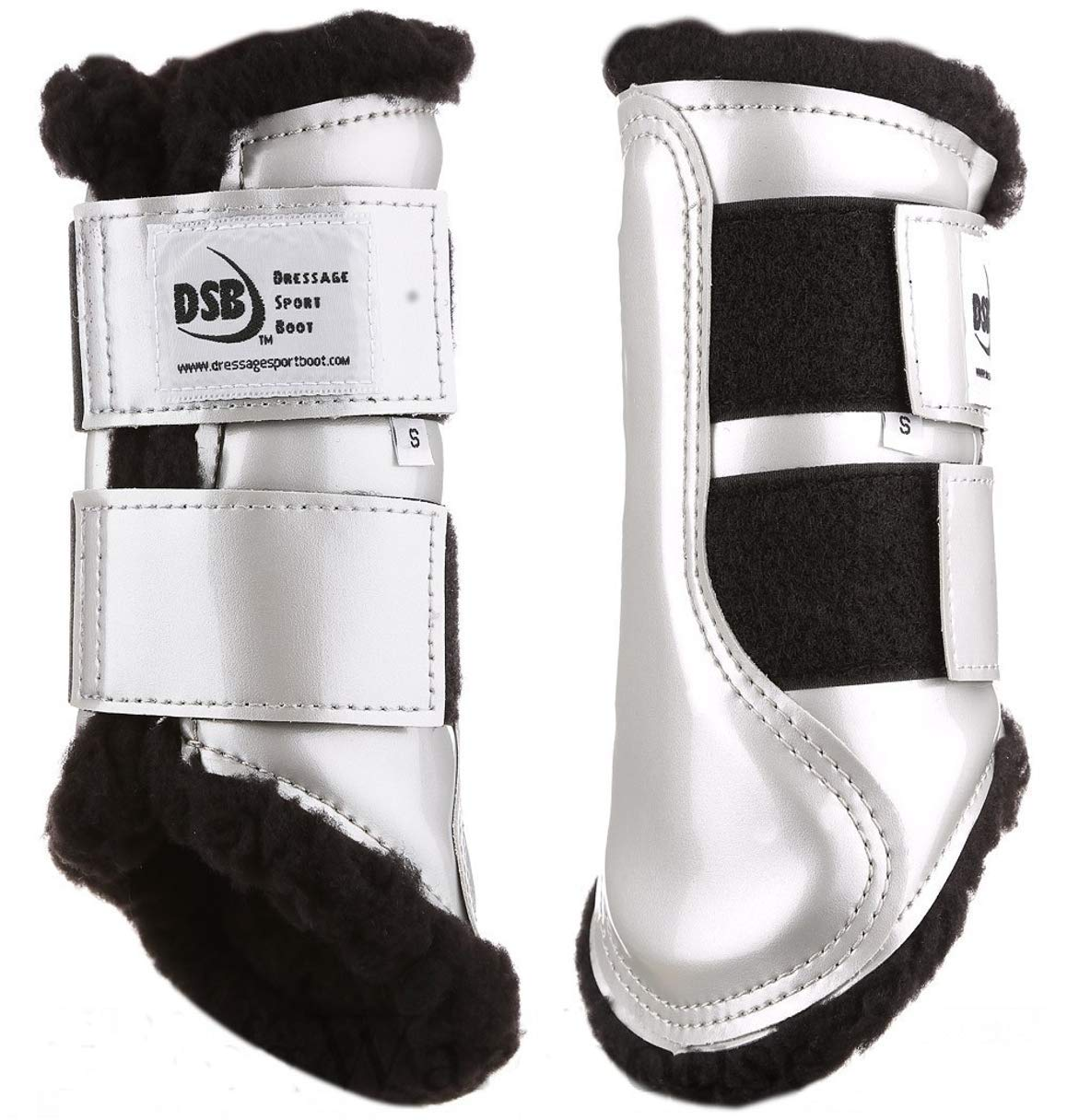 Dressage スポーツブーツ (DSB, 複数の色とサイズ L マルチカラー 0004674322994 B07FQYKNV9 L|Patent Silver/Black Fleece Patent Silver/Black Fleece L