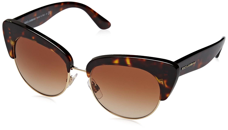 Amazon.com: D & G Dolce & Gabbana Mujer 0dg4277 Cateye ...