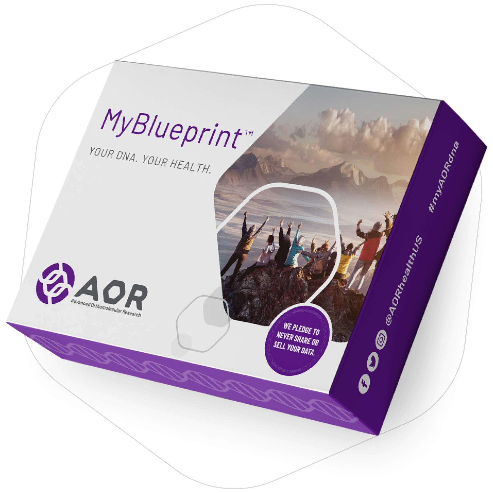 AOR, MyBlueprint at Home Genetics Test Kit, DNA-Based Personalized Nutrition and Lifestyle Report for Health and Well-Being by AOR