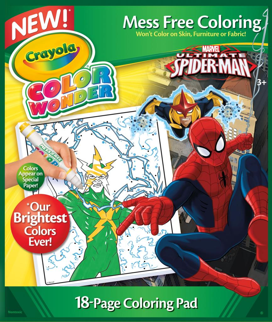 Amazon.com: Crayola Spiderman Color Wonder Refill Book: Toys & Games