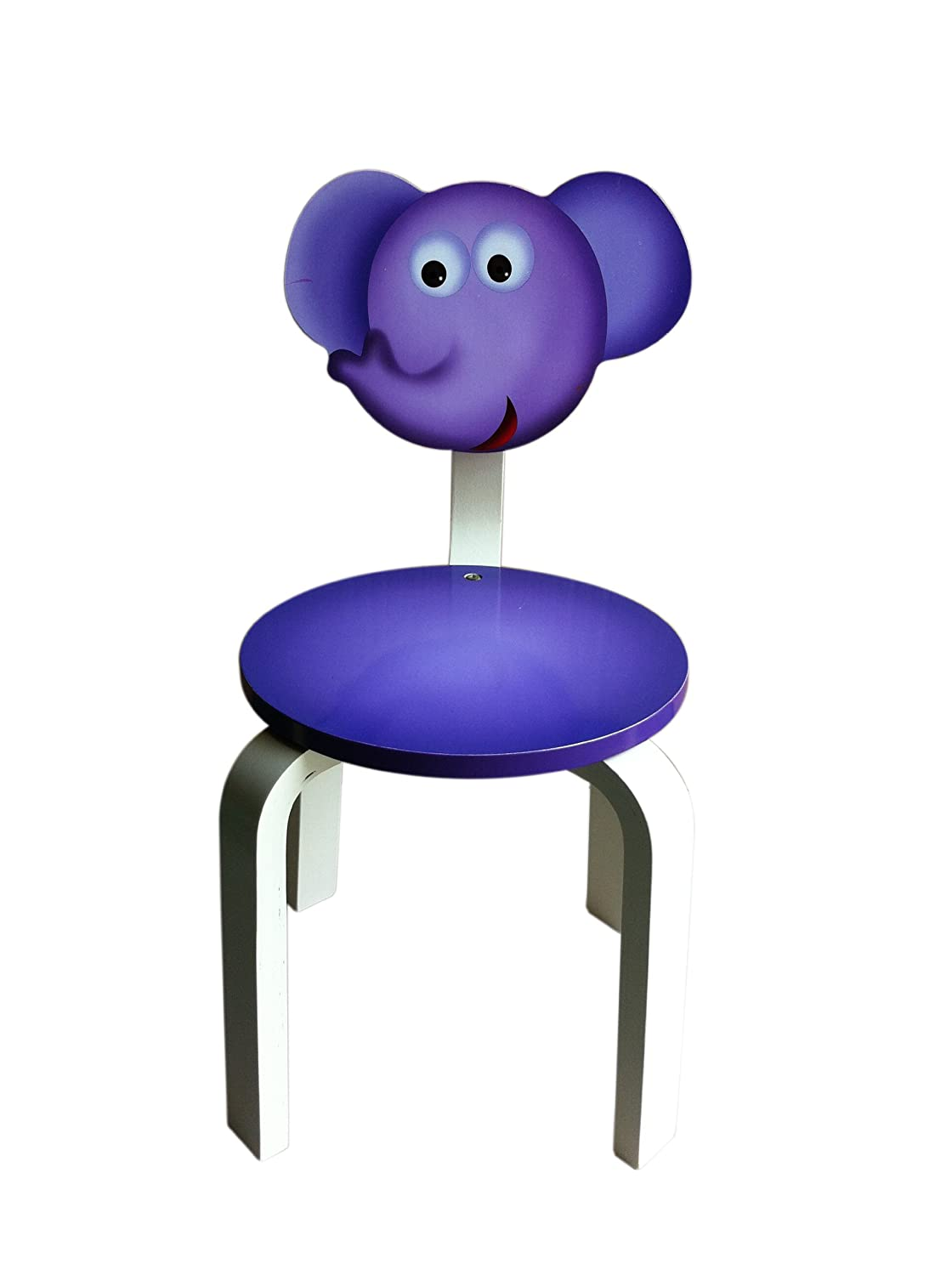 Inskeppa Safari Collection Kid's Elephant Wood Chair. Cute Design and Functional Chair for Any Room