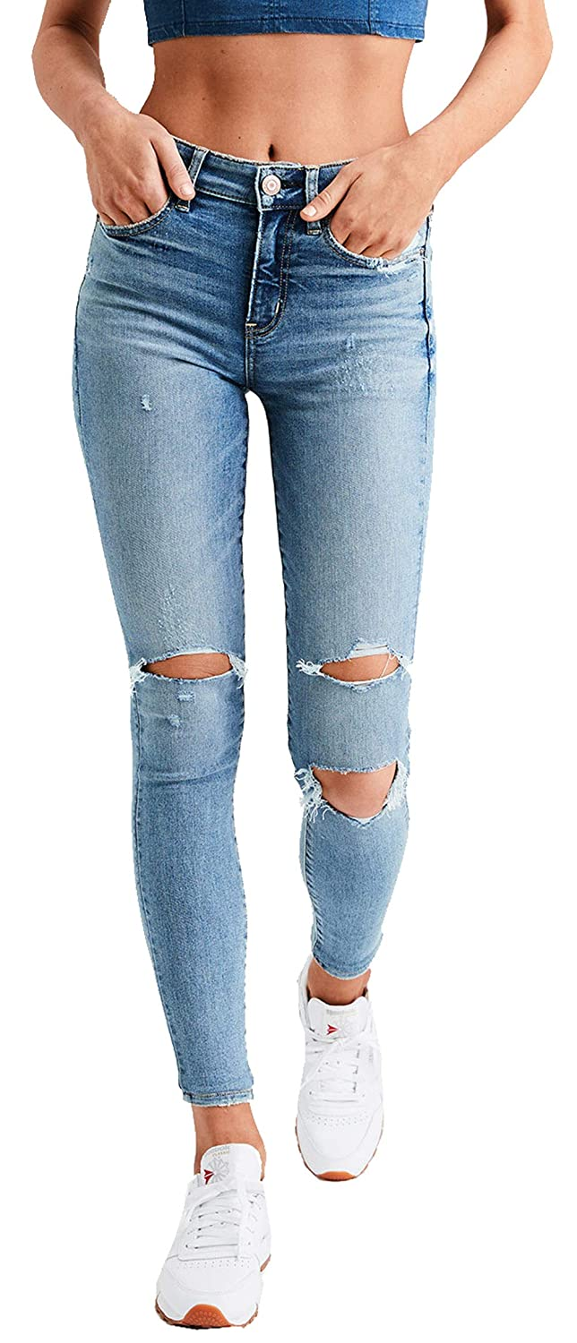 84b76a7e794 American Eagle Womens 1708457 Ne(X) t Level High-Waisted Jegging, Bright  Vintage at Amazon Women's Jeans store