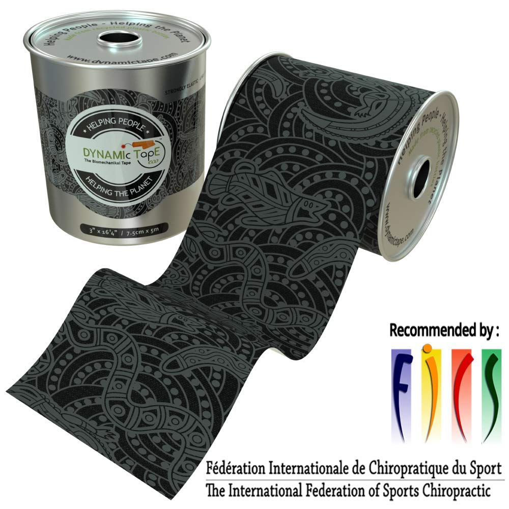 Dynamic Tape ECO Biomechanical, 3 inches by 16.4 feet, Therapeutic, Sports, Clinician Designed for Performance Fitness Athletes, Protect & Assist Motion, Injury Recovery, Hypoallergenic & Latex Free by Dynamic Tape