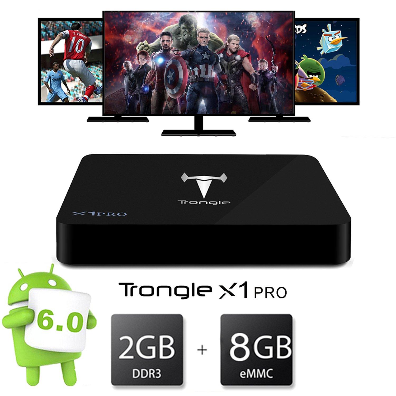 2G RAM TV Box, SEUGRO 2017 X1 Pro 4K Smart TV Box Android 6 0 Marshmallow  box Quad Core Amlogic S905X 2G/8G Miracast Airplay TV Stick [Energy Class
