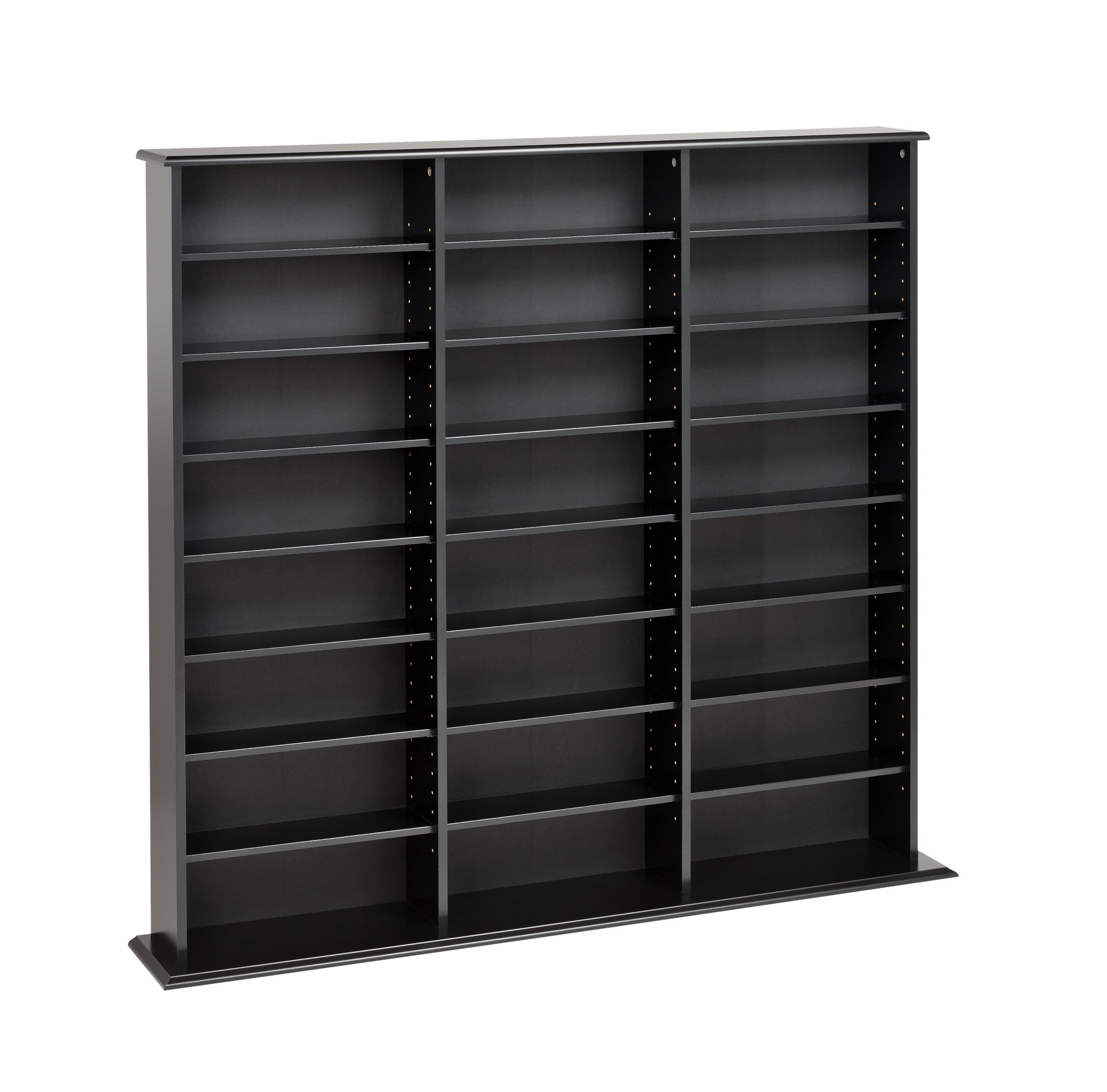Prepac Black Triple-Width Wall Media Storage Rack by Prepac