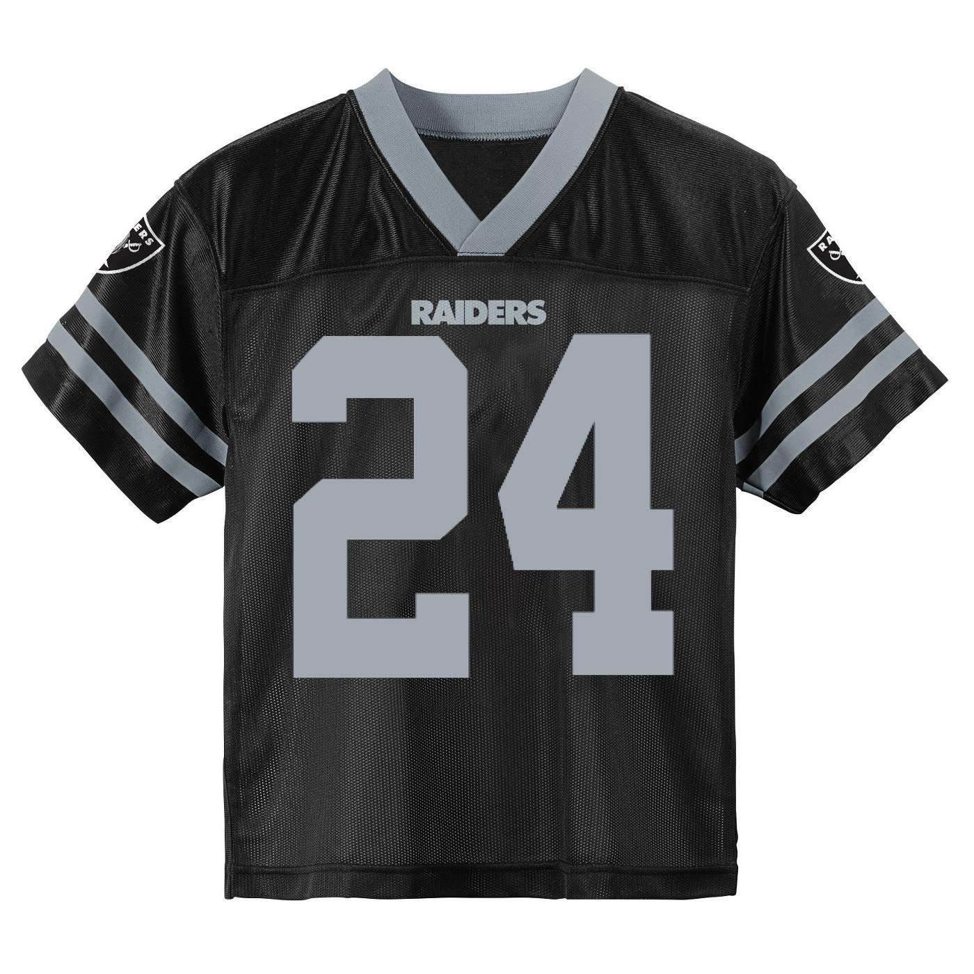 timeless design 670bb 36dbd Outerstuff Marshawn Lynch Oakland Raiders #24 Black Youth Home Player Jersey