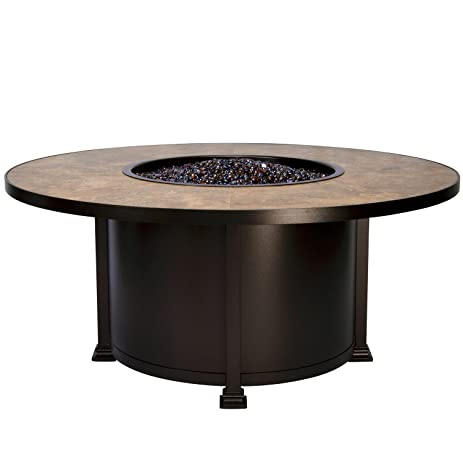"""OW Lee Santorini Iron Fire Pit 54"""" Round Chat Height in Copper Canyon  Finish, - Amazon.com : OW Lee Santorini Iron Fire Pit 54"""
