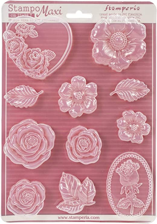 NEW Stamperia Soft Mould Roses