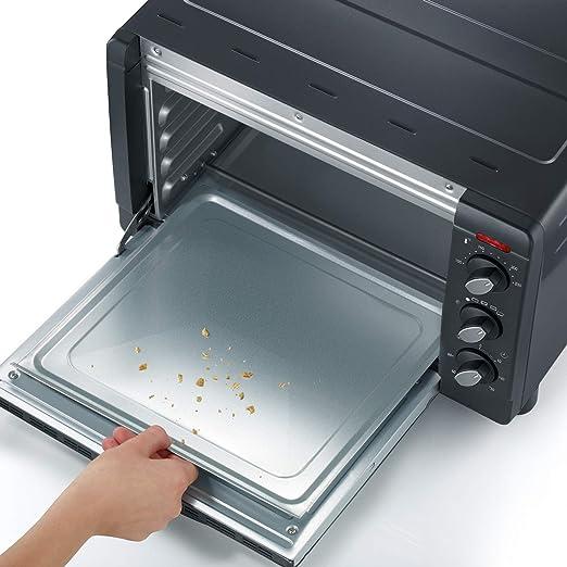 SEVERIN TO 2060 Horno Tostador incluye Rejilla grill y Bandeja de horno, 1.500 W, 20 L, color plateado y negro: Amazon.es: Hogar