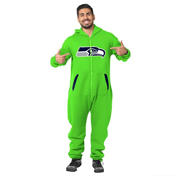 358fd1a7ad2 Amazon.com   Klew NFL Adult One Piece Jumpsuit Team Logo Sports Suit - Pick  Team   Sports   Outdoors