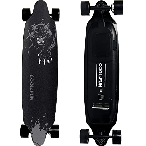 RCB Monopatín Eléctrico Skateboard Eléctrico Longboard de 4 Ruedas con Motor Inteligente Skateboard y Control Remoto, Velocidad 28-32 km/h, para ...